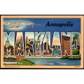 Annapolis, Maryland Large Letter Postcard