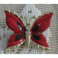 Signed Gerry's Enamel Butterfly Brooch