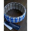 Liz Claiborne Blue Faceted Stretch Bracelet